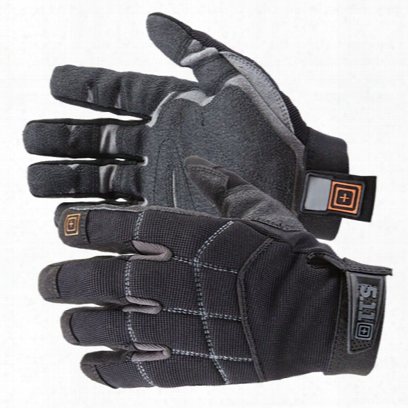 5.11 Tactical Station Grip Duty Gloves, Black, Large - Black - Male - Excluded