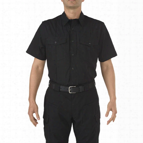5.11 Tactical Stryke Class-b Pdu Short Sleeve Sirt, Black, 2x-large Tall - Black - Male - Excluded