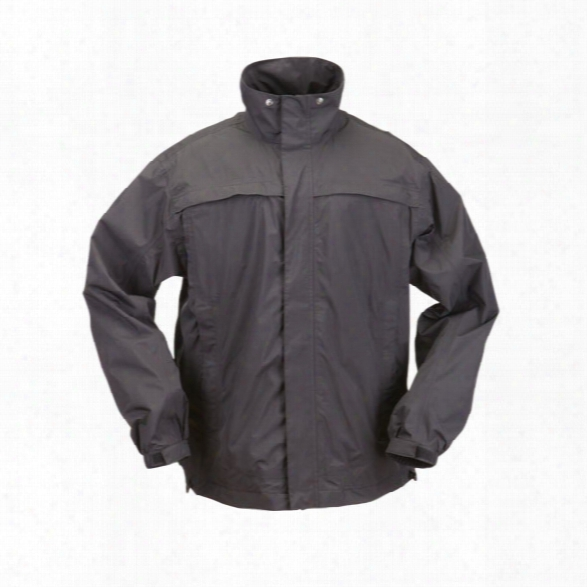 5.11 Tactical Tac Dry Rain Shell Jacket, Black, Xx-large - Black - Male - Excluded