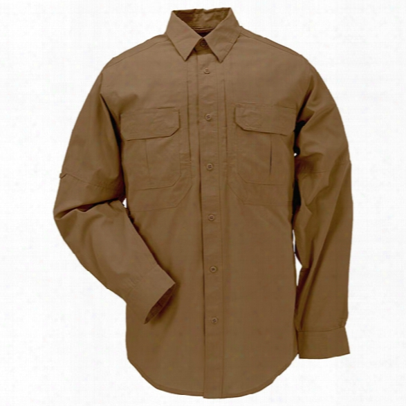 5.11 Tactical Taclite Pro Ls Shirt, Battle Brown, 2xl - Black - Male - Excluded