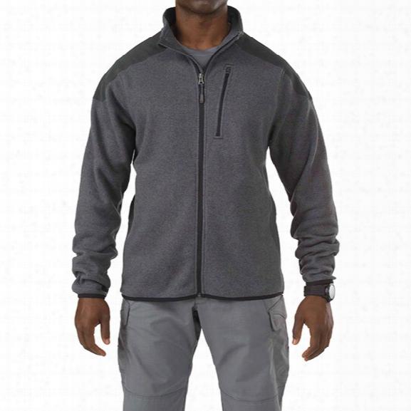 5.11 Tactical Tactical Full Zip Sweater, Gun Powder, Lg - Gun Powder - Male - Excluded