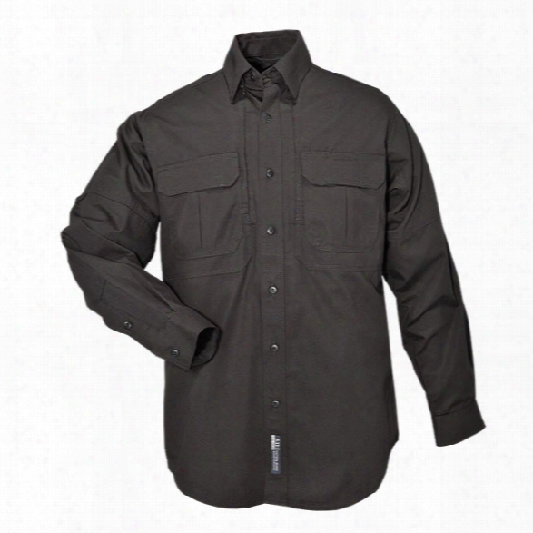 5.11 Tactical Tactical Ls Cotton Shirt, Black, 2xl - Green - Male - Exclluded