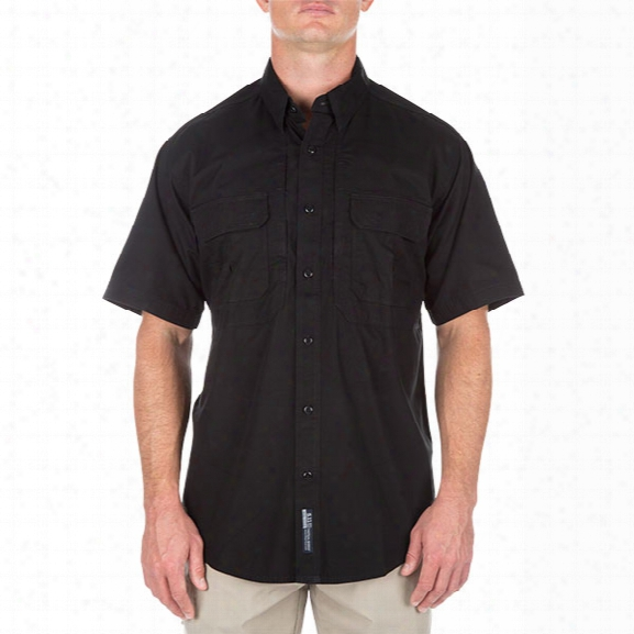5.11 Tactical Tactical Ss Cotton Shirt, Black, 2xl - Green - Male - Excluded