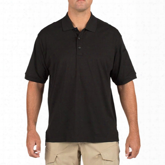 5.11 Tactical Tactical Ss Polo, Black, 2xl - Black - Male - Excluded