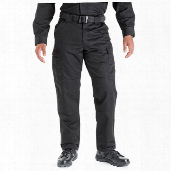5.11 Tactical Tdu 65/35 Poly/cotton Twill Pants, Xx-large, Black, Long - Black - Male - Excluded