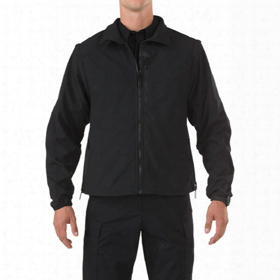 5.11 Tactical Valiant Softshell Jacket, Black, 2xl - Black - Male - Excluded