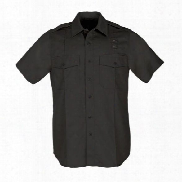5.11 Tactical Womens Pdu Twill Class A Short Sleeve Shirt, Black, Large Tall - Black - Female - Excluded