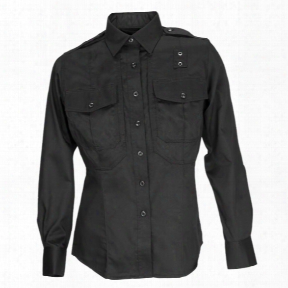 5.11 Tactical Womens Pdu Twill Class B Long Sleeve Shirt, Black, Large Tall - Black - Female - Excluded