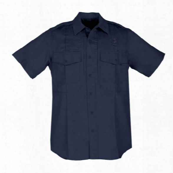 5.11 Tactical Womens Pdu Twill Class B Short Sleeve Shirt, Midnight Navy, Large Tall - Blue - Female - Excluded