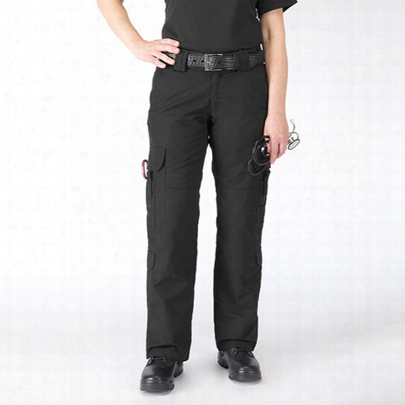 5.11 Tactical Womens Taclite Ems Pant, Black, 10 Long - Black - Mal E- Excluded