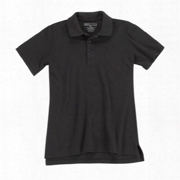 5.11 Tactical Womens Utility Polo, Black, Lg - Black - Male - Excluded