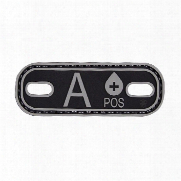 5ive Star Gear Blood Type Id Tags, Black-grey, A Positive - Black - Male - Included