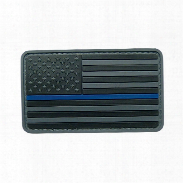 5ive Star Gear Morale Patch, Us Flag Black With Blue Stripe- Blue - Unisex - Included