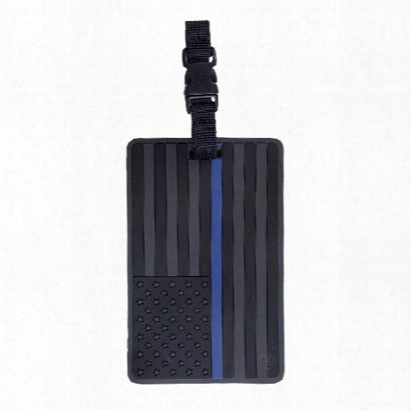 5ive Star Gear Pvc Luggage Tag - Black Us Flag With Blue Stripe - Black - Unisex - Included