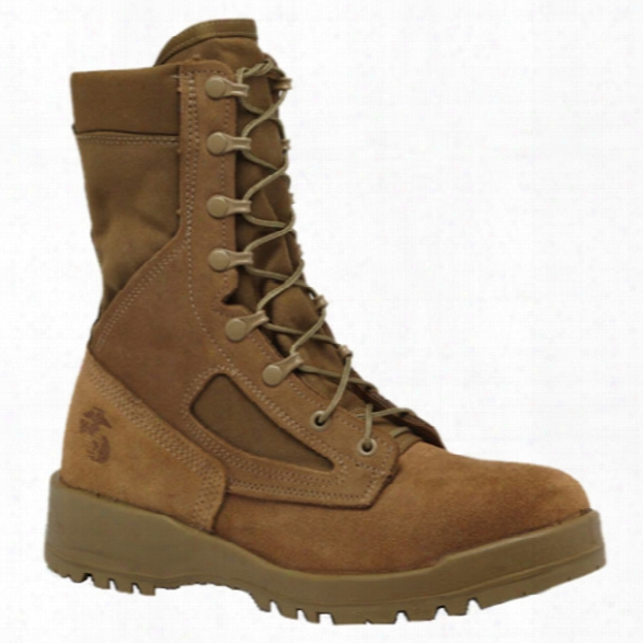 Belleville Usmc Hot Weather Steel Toe Boot (ega), Olive, 10.5 Regular - Green - Male - Included