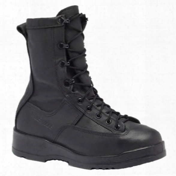 "Belleville Waterproof 8"" Steel Toe Flight/flight Deck Boot, Black, 10.5r - Black - Male - Included"