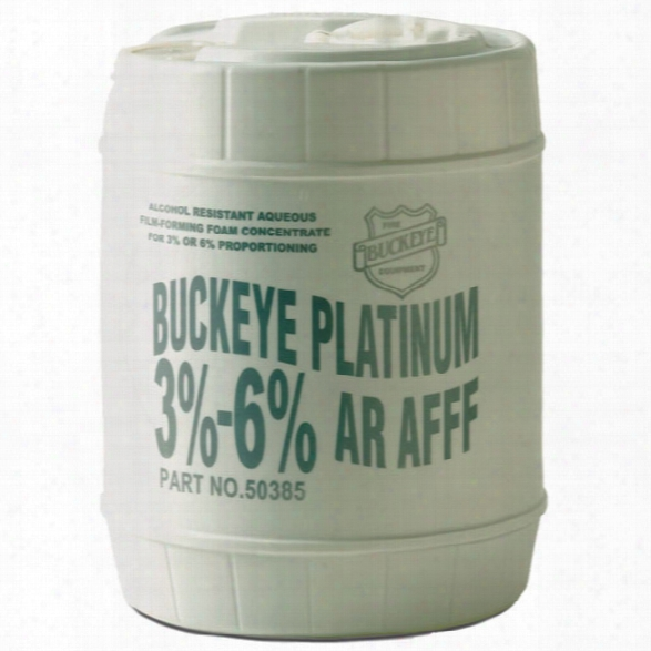 Buckeye Foam Firefighting Foam, Synthetic 3-6% Ar-afff, 5-gallon Pail - Male - Excluded