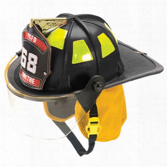 """Cairns 880 Helmet W/4"""" Tuffshield, Standard Headliner, Black - Black - Male - Excluded"""