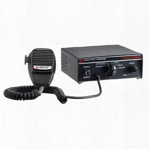 Federal Signal Pa300 Full Feature Siren, Hi-lo Tone - Male - Excluded