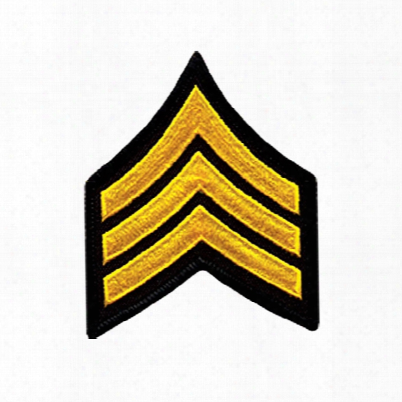 """Heros Pride Chevron, Hot Knifed Border, 3"""" Wide, Corporal, Sum Gold On Black - Black - Unisex - Included"""