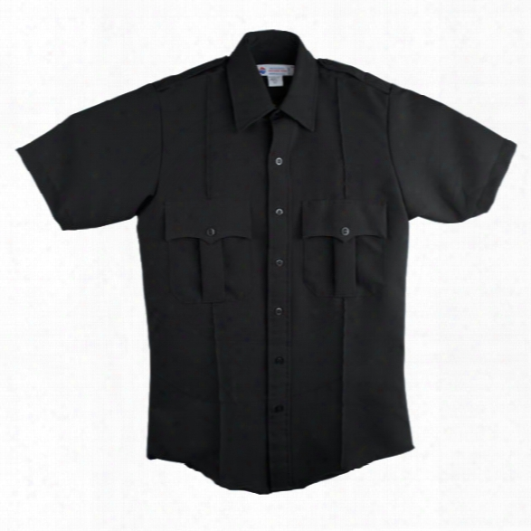 Liberty Uniform Class A Short-sleeve Dacron Uniform Shirt, Xx-large, Black - Black - Male - Included