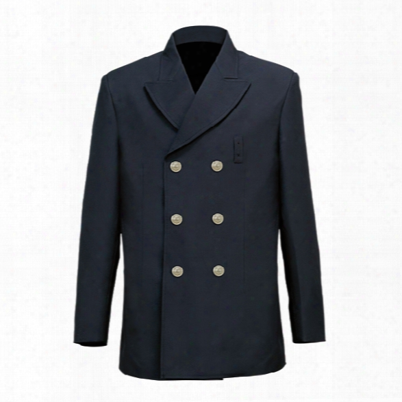 Liberty Uniform Fd Double Breasted Blouse Coat, Navy, 34 Regular - Silver - Male - Included