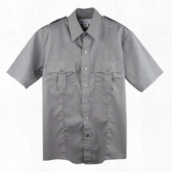 Liberty Uniform Police Ss Shirt, Light Grey, 2xl - Gray - Male - Included