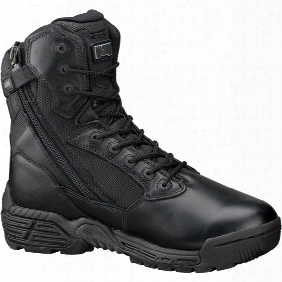 "Magnum Stealth Force 8"" Side Zip Waterproof Boot Black 10.5d - Silver - Male - Included"