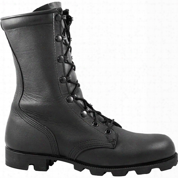 Mcrae Footwear Leather 10-inch Combat Boot Panama Sole, Black, 10.5r - Red - Male - Included