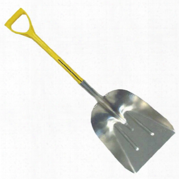 Nupla 27&qu Ot; Aluminum Scoop, D Grip - Silver - Unisex - Excluded