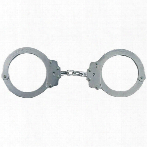 Peerless 702c Oversize Chain Link Handcuffs, Nickel Finish - Carbon - Unisex - Included