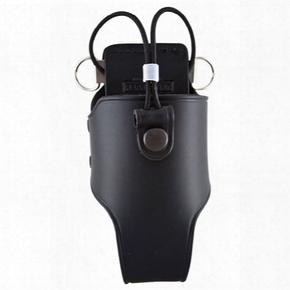 Perfect Fit Radio Holder With Beltslide, Elastic Straps And D-rings, Plain Black - Black - Unisex - Included