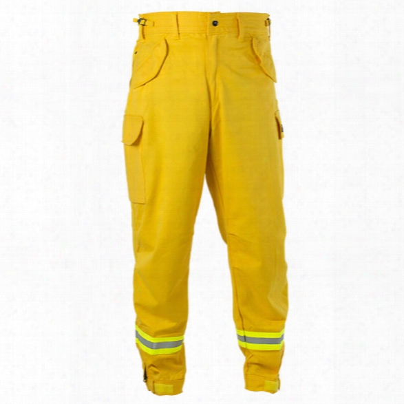 Pgi Fireline Smokechaser (deluxe) Field Pant, Nomex Iiia, 6 Oz, Yellow, 2xl / Long - Brass - Male - Included