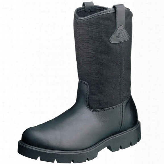 "Rocky 10"" Pull-on Boot, Black, 10.5mw - Black - Male - Included"