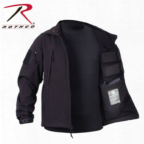 Rothco Concealed Carry Soft Shell Jacket, Black, Large - Black - Male - Included
