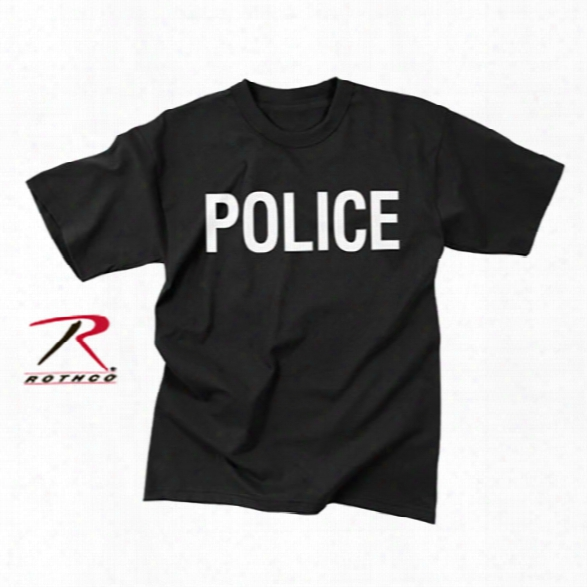 Rothco Double Sided Police T-shirt, Black, 3xl - Black - Male - Included