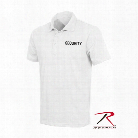 Rothco Le Polo Shirts, Security, White, Large - White - Male - Included