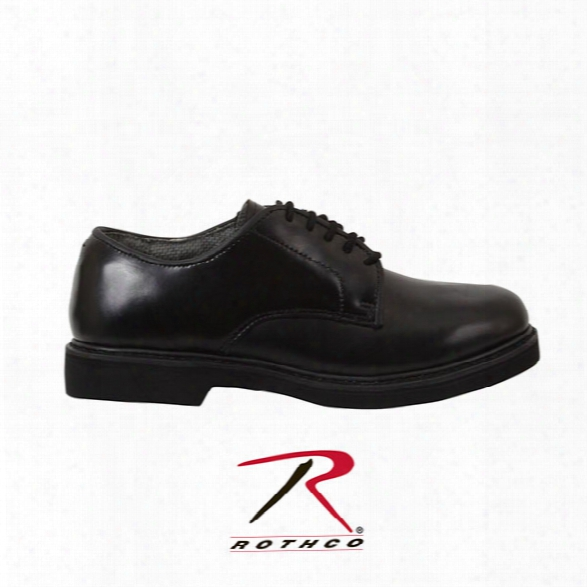 Rothco Military Uniform Oxford Leather Shoes, Black, 10.5 M - Black - Male - Included