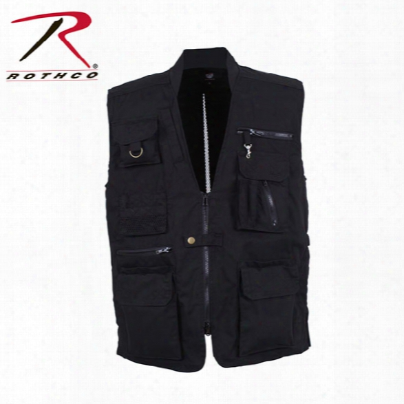 Rothco Plainclothes Concealed Carry Vest, Black, 4x-large - Black - Male - Included