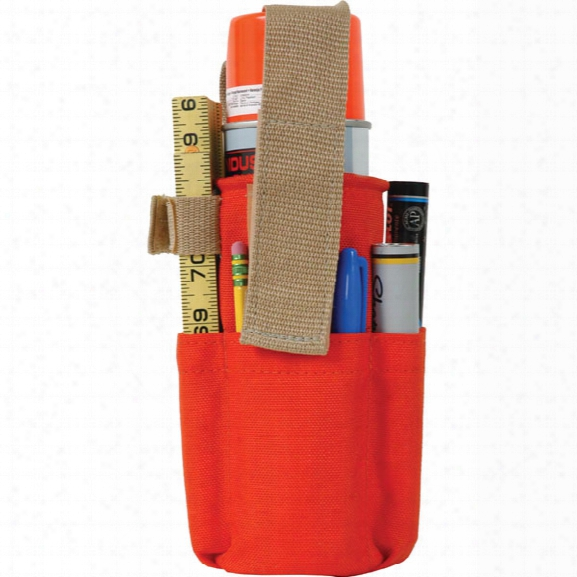 Seco Spray Can Holder W/ Belt Loop & Pockets - Orange - Unisex - Included