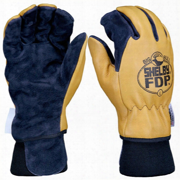 Shelby Glove Fdp Elk & Pigskin Fire Gloves W/ Gore Rt7100 Glove Barrier, Gold/black, Xx-large, Gauntlet - Gold - Male - Included
