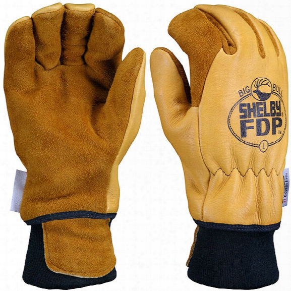 Shelby Glove Fdp Grain Elk Fire Gloves, Gauntlet, 2xl - Male - Included