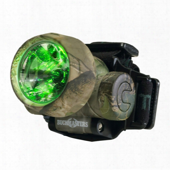 Streamlight Buckmasters Camo Trident Headlamp With (3) Green Leds & Alkaline Batteries, Camo - Green - Male - Included