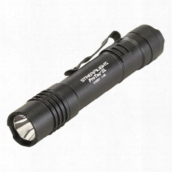 Streamlight Professional Tactical Series 2l Led Tactical Flashlight, Black W/ Bztteries & Nylon Holster - Black - Male - Included