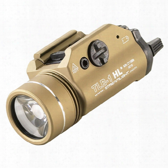 Streamlight Tlr-1 Hl High Lumen Rail Mounted Tactical Light, Flat Dark Earth - Brown - Male - Included