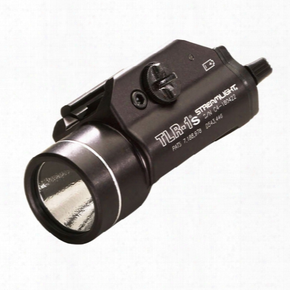 Streamlight Tlr-1s Led Weapon Light W/ Strobe & Batteries - Black - Male - Included