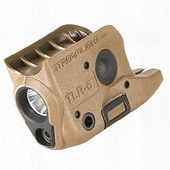 Streamlight Tlr-6 Weapon Mounted Light W/ Integrated Red Aiming Laser, Flat Dark Earth - Red - Male - Included