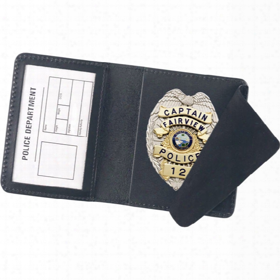 "Strong Leather Duty Style Side Opening Badge Case, Fits Id 2-3/4"" X 4"" - Black - Male - Included"