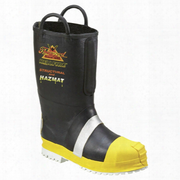 """Thorogood 14"""" Fire Boots, Insulated Felt-lined W/ Lug Sole, 10.5, Medium - White - Male - Included"""