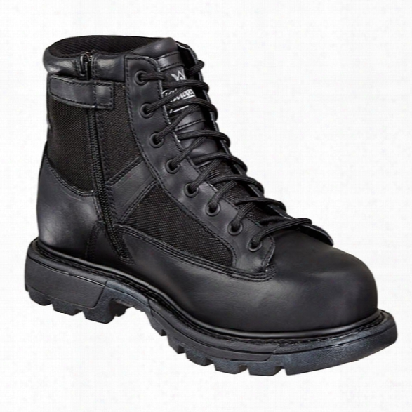 "Thorogood Genflex2 6"" Trooper Sidezip Wp Boot, Black, 14m - Black - Unisex - Included"